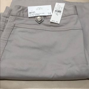 New Loft khaki pants, size 14
